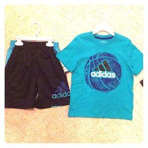🐟Adidas shirt shorts set sz 4t NWT $43 cute 🐟